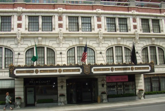 Davenport Hotel Exterior Restoration Work