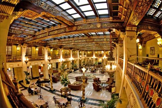 Davenport Hotel Lobby Restored