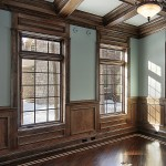 Interior Staining - Box beam ceilings, Wainscoting