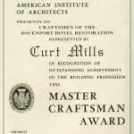 Master Craftsman Award