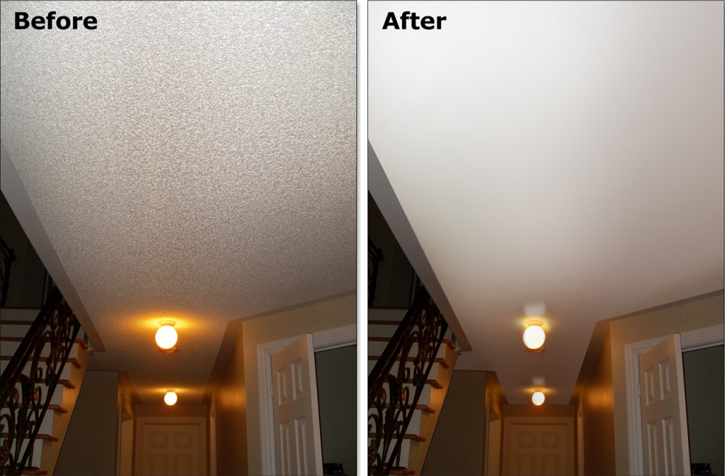 can you paint a popcorn ceiling